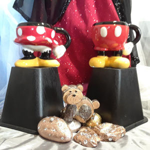Disney's Bottom Half Of Minnie & Mickey Mouse Mugs